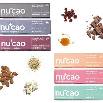 nucao Veganer Bio Superfood Riegel – Mixed Box – Nährstoffreiche Vegane Schokolade mit knackigen Hanfsamen & kräftigem Roh-Kakao [12er Pack | Paleo Bar | Rohkost-Riegel | Low Sugar | Plastikfrei] - 2