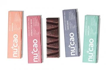 nucao Veganer Bio Superfood Riegel – Mixed Box – Nährstoffreiche Vegane Schokolade mit knackigen Hanfsamen & kräftigem Roh-Kakao [12er Pack   Paleo Bar   Rohkost-Riegel   Low Sugar   Plastikfrei] - 8