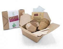 SATTE SAAT Superfood Anzuchtset mit Moringa, gesunden Kräutern und Gemüse - ökologisches Pflanzset inkl. Töpfe, Anzucht-Erde, Holz-Sticks, Samen und Anleitung - zeitloses Urban Gardening Geschenk - 1